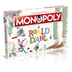 Monopoly Board, Monopoly Game, Roald Dahl Games, Willy Wonka Factory, Roald Dahl Stories, Quentin Blake Illustrations, Georges Marvellous Medicine, James And Giant Peach, Wonka Chocolate Factory