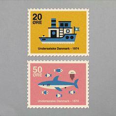 Danish Stamps on Behance