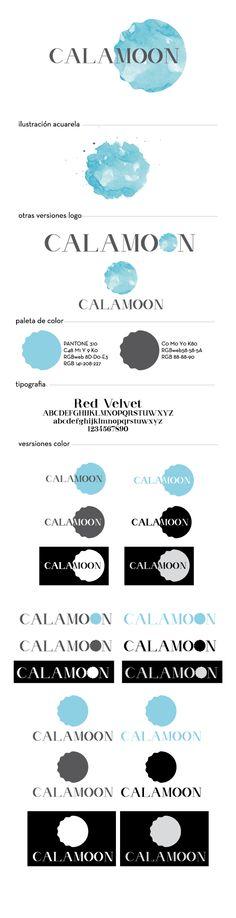 Logo y versiones para Calamoon tienda on-line de baño y lenceria // Logo and versions for Calamoon online store lingerie and swimwear