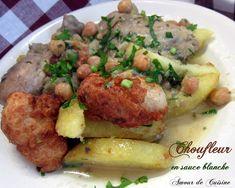 chou-fleur en sauce blanche, cuisine algerienne, recette de ramadan