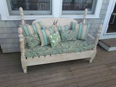couch made with headboard - Google Search