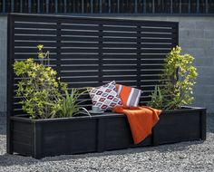 Planter Box with Trellis Screen adding style, comfort and protection. Made per requirements on site at our Kaiapoi workshop. Contact us today to order!