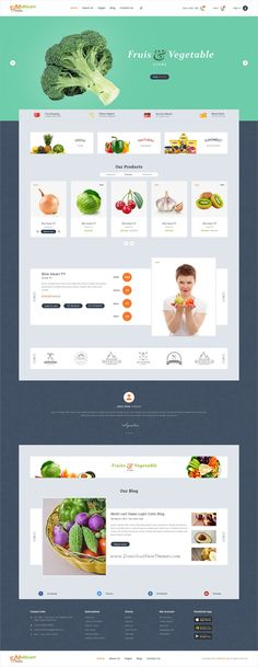 Multicart is clean and modern design PSD template for #fruits and #vegetable #shop stunning eCommerce website with 29 layered PSD files download now..