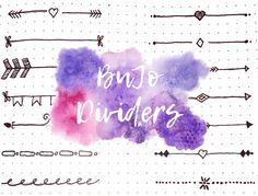 Bullet Journal dividers inspiration. 16 BuJo hand-drawn dividers.