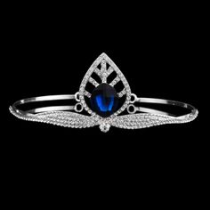 Find More Hair Jewelry Information about Fashion Roman Goddess Rhinestone Leaf  Wedding Headband Blue Crystal Bridal Tiaras and Crowns,High Quality crown headband,China tiara pearl Suppliers, Cheap crown queen from nice JOJO :) on Aliexpress.com