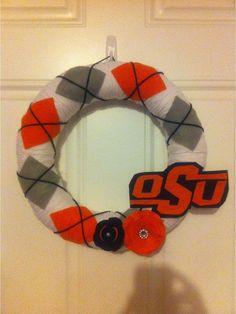 Oklahoma State University Wreath... so cute