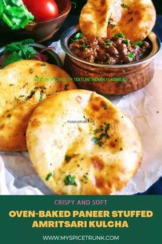 Baked Amritsari Paneer Kulcha - myspicetrunk