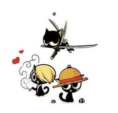 Luffy, Zoro & Sanji