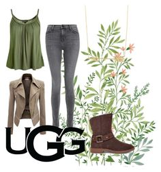 """""""The New Classics With UGG: Contest Entry"""" by jackiehirtler on Polyvore featuring J Brand, Topshop, UGG and ugg"""