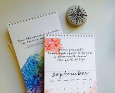 2017 Calendar Desk Calendar Paper Goods Art by WizzleWuzzleBabbles