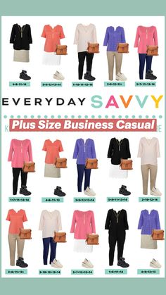 Capsule Wardrobe Work, Capsule Outfits, Fashion Capsule, Business Casual Outfits, Business Attire, Plus Size Business, Plus Size Fashion For Women, Vinyl Cutting, Dress For Success