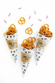 Printable Pretzel Cones