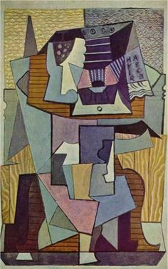 The table - Pablo Picasso, on cardboard, 1919