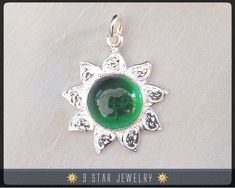 Sunflower++Sterling+Silver+9+Star+Bahai+Pendant+w/+by+9StarJewelry,+$29.50