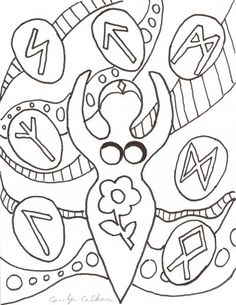 Goddess Coloring Page Would Make A Fab Embroidery Transfer