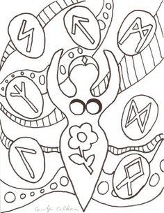 Goddess coloring page.