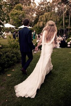 Some beautiful shots of model\photographer Candice Lake's wedding, featured in Vogue ... dresses by Alberta Ferretti.