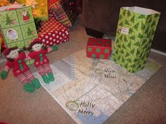 Holly and Merry went to see their elf friends in South Carolina.  They even marked it on the map to show us.