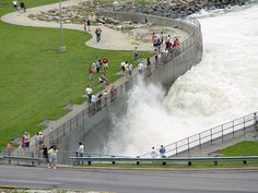 Saylorville Lake spillway.  So awesome, especially when water levels are high.