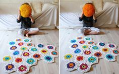 The Crochet Rug Makes Your Room Full of Happiness