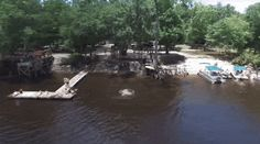 Bob's River Place - Suwannee River in Branford, Florida Water Volleyball, Summer Hours, Florida Water, Swimming Holes, Water Slides, Rafting, Bobs, Places To Go, Bob