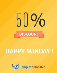 Happy Sunday! Grab your 50% discount on a hand-picked collection of best templates. Valid on 05/22 from 00:01 till 23:59 EST  http://www.templatemonster.com/happy-sunday.php?utm_source=pinterest&utm_medium=tm&utm_campaign=hpsnd