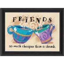 Amazon.com: Dimensions Needlecrafts Stamped Cross Stitch, Cheaper Than A Shrink: Arts, Crafts & Sewing