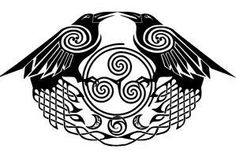 Raven + Medallions Celtic Knotwork Design by WildSpiritWolf on DeviantArt Celtic Raven Tattoo, Norse Tattoo, Celtic Tattoos, Viking Tattoos, Heidnisches Tattoo, Rabe Tattoo, Underboob Tattoo, Deer Tattoo, Samoan Tattoo