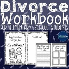 Divorce Workbook: Dealing with Family Changes. by Counselor Keri Elementary School Counseling, Group Counseling, School Counselor, Elementary Schools, Divorce Counseling, Counseling Activities, Therapy Activities, Family Separation, Importance Of Time Management