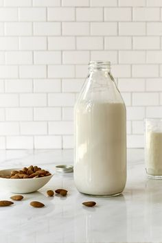 Homemade almond milk is so easy to make. Just throw raw almonds in your blender with some water, and add your preferred flavors and sweeteners.