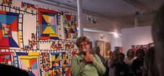 World-renowned quilter Nancy Crow announces winners at the May 26 Quilt National opening. Barn Art, Crow, Fiber Art, Quilts, Abstract, Dairy, Painting, Summary, Raven