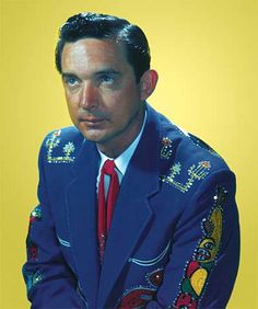A younger Ray Price top music country singer and country star. photo undated. The guys outdid the girls in glitz! yeah
