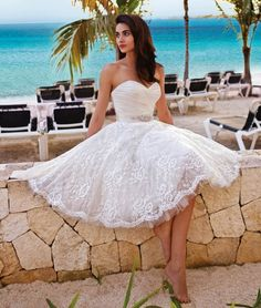 Demetrios Platinum Style DP234 by Demetrios | Short #Wedding Dress