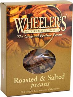 Wheeler's Roasted & Salted Pecans, 2 oz.