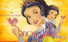 Pink zebra...snow white- Winter Woods and Red Delicious Apple