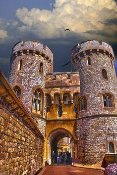 Norman gate at Windsor Castle in Windsor, England • photo: Luda Nayvelt on Society6