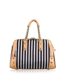 Brown & White Barrel From Henri BENDEL
