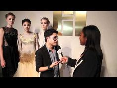 Interviewing @ThaiNguyenTweet at #LAFW ... he had some AMAZING designs! #fashion #video