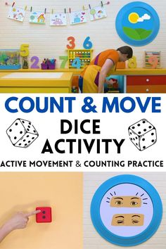 In this episode of Caitie's Classroom, we are doing lots of counting! There are lots of creative and fun ways to practice counting and we explore a number of them in this episode. You can use movement, art and role play all to practice counting! Number Games For Kindergarten, Number Activities, Preschool Learning Activities, Preschool Math, Toddler Preschool, Maths, English Games, English Fun, English Kindergarten