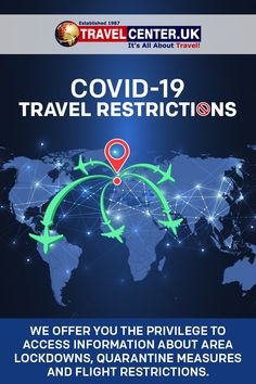 Use the interactive map to zoom in to the country, state or region you want to travel or have an interest. #coronavirus #covid19 #travelrestrictions #quarantinemeasure #flightoffers #itsallabouttravel #travelcenteruk