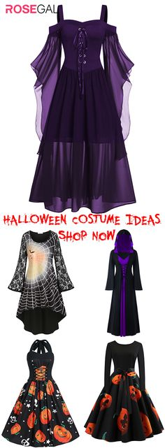 Rosegal plus size Halloween horror Dress ideas vintage Halloween costume ideas, Halloween Fashion, Halloween Dress, Halloween Outfits, Vintage Halloween, Halloween Costumes, Halloween Horror, Creepy Vintage, Cute Casual Dresses, Cute Outfits