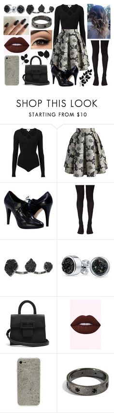 """Random Outfit 300"" by meranda-joi ❤ liked on Polyvore featuring Witchery, Chicwish, Music Legs, Kendra Scott, Bling Jewelry, Maison Margiela, Spring, floral, black and floralskirt"
