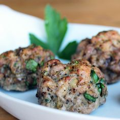 Paleo Perfect: Baked Meatballs. These look so yummy! Could use ground turkey, too.!