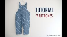 Free overalls pattern & video tutorial - Oh, mother mine! Sewing Baby Clothes, Baby Clothes Patterns, Baby Sewing, Clothing Patterns, Diy Clothes, Baby Boy Outfits, Kids Outfits, Winter Maternity Outfits, Kids Robes