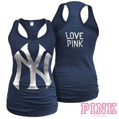 New York Yankees Victoria's Secret PINK® Racerback Tank - MLB.com Shop