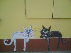 CyBeRGaTa: Kitteh Graffiti - Cat Street Art From Around the World, Part VII
