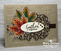 – Inspiration Monday – Create with Connie & Mary Christmas Rose, Stampin Up Christmas, Christmas Greetings, Halloween Cards, Fall Halloween, Fall Color Palette, Stamping Up Cards, Thanksgiving Cards, Fall Cards