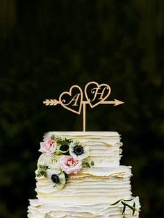813f9b358 Personalized Wedding Cake Topper ,Mr and Mrs cake topper Rustic Gold Cake  Topper, Unique