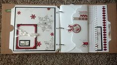 """CTMH 3 ring binder made with Artbooking Cricut Cartridge and Teresa Collins """"Santa's List"""" papers."""