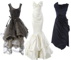 The latest from Vivienne Westwood. I think the gray is my fave by far, but all so gorgeous